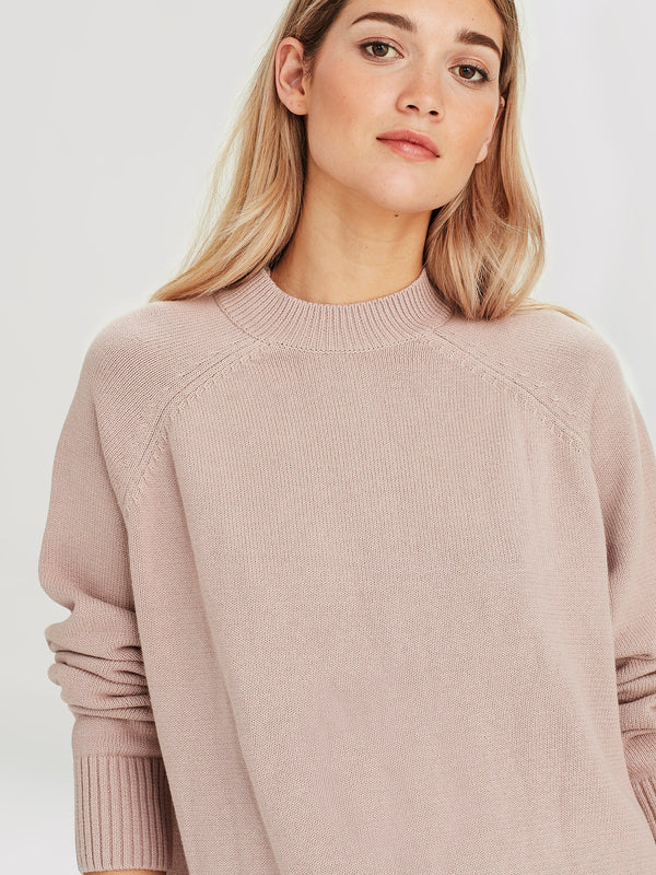 Frances Sweater (Cotton Knit) Sandalwood