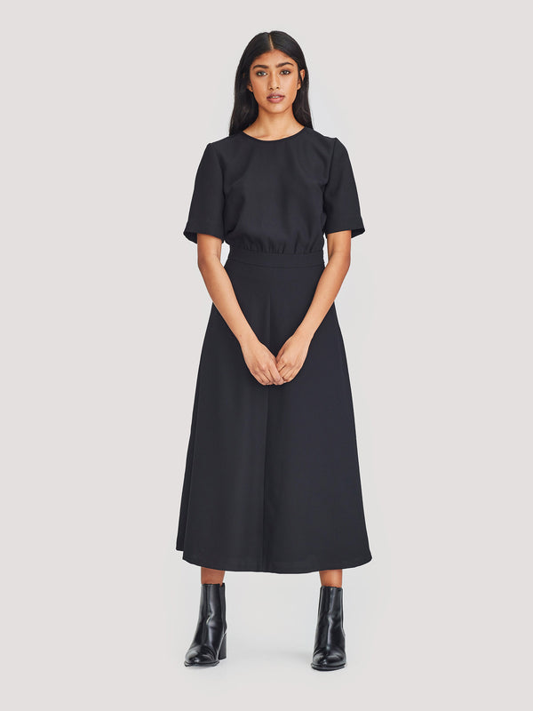 Pip Dress (Luxe Crepe) Black