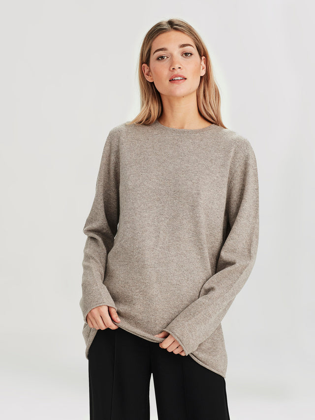 Harley Cashmere Crew (Cashmere) Stone