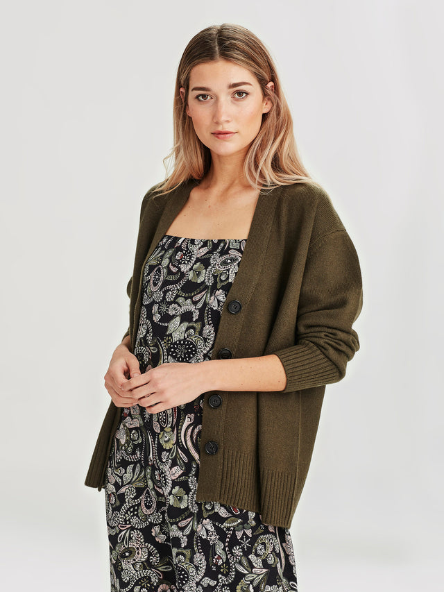 Marvin Cashmere Cardi (Cashmere) Topiary