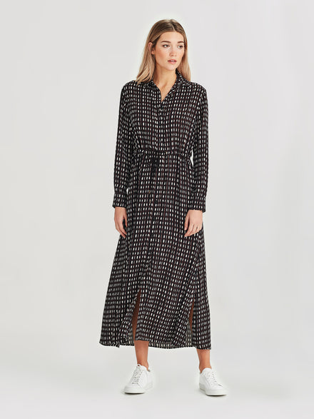 Tailor Shirtdress (Cityscape) Cocoa