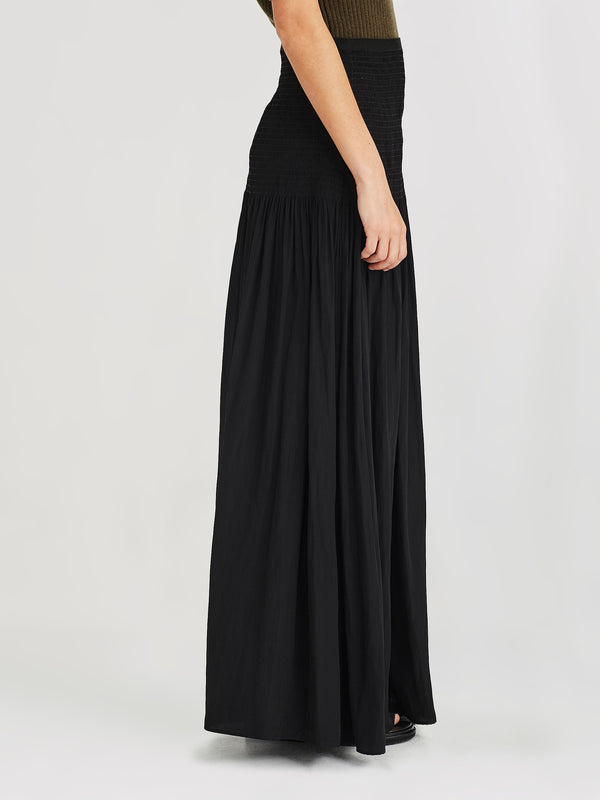 Luella Skirt (Cotton Drape) Black
