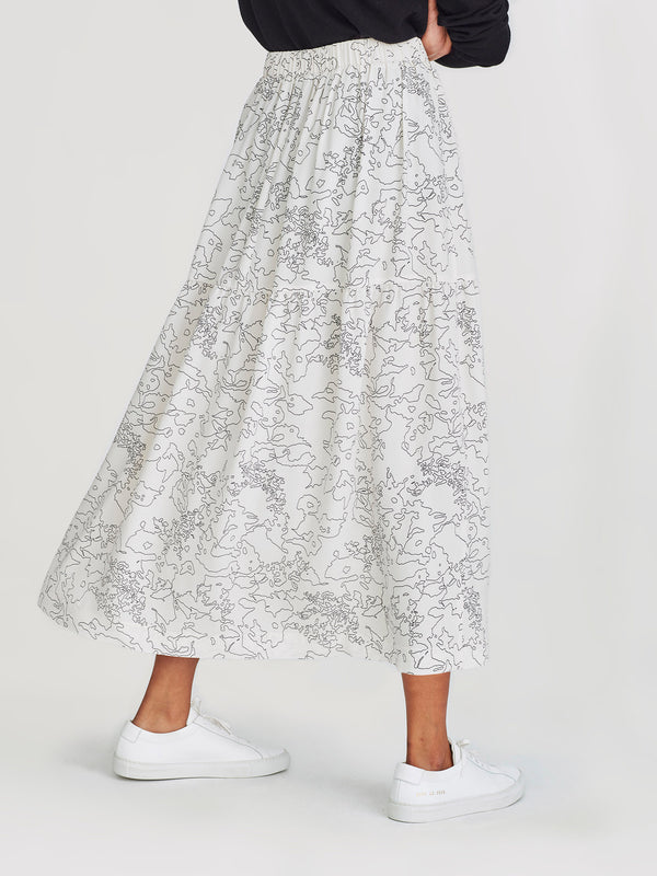 Eugenie Skirt (Flower Line) Chalky