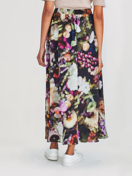 Vicky Skirt (Florist Silk) Dark Bouquet