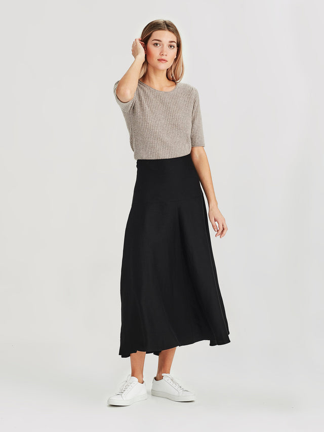 Circle Skirt (Fluid Weave Tri) Black