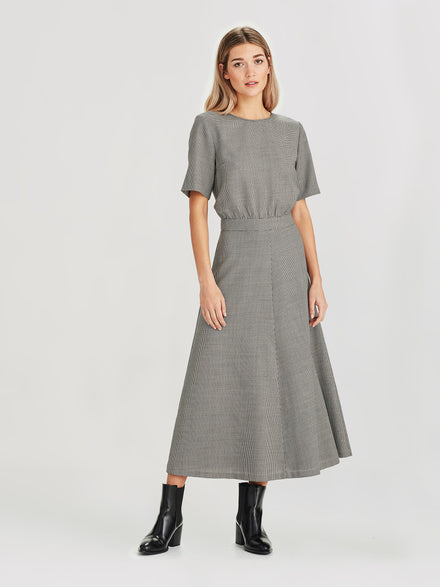 Pip Dress (Houndstooth Suiting) Houndstooth