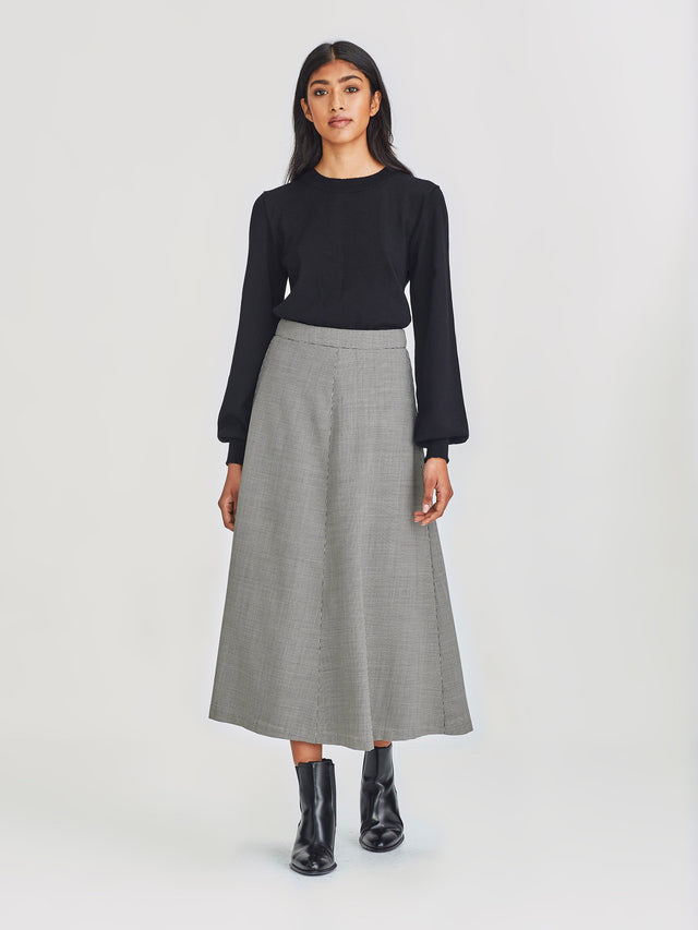 Polished Skirt (Houndstooth Suiting) Houndstooth