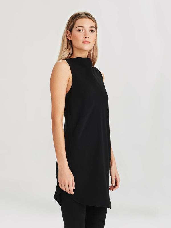 Carly Tunic (Luxe Suiting) Black