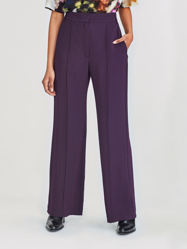 CeeCee Trouser (Luxe Suiting) Aubergine