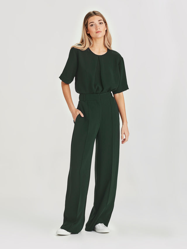 CeeCee Trouser (Luxe Suiting) Forest