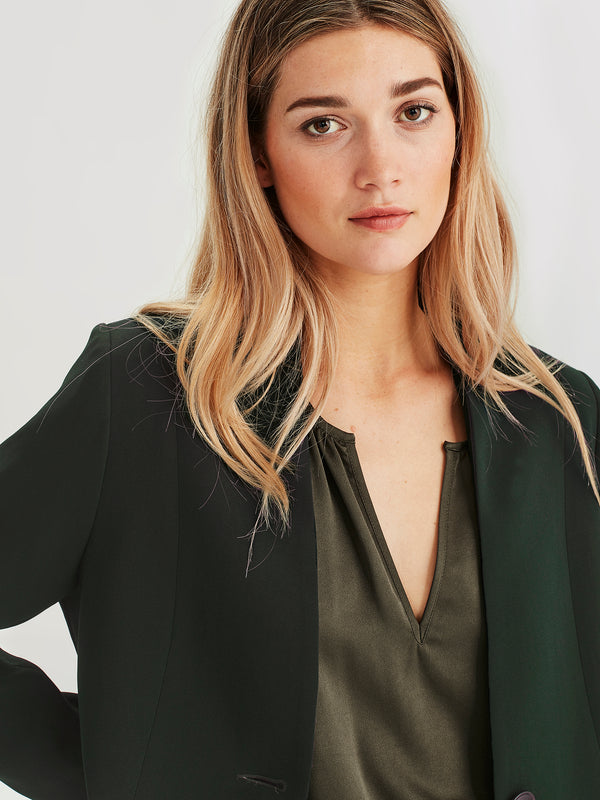 Leslie Jacket (Luxe Suiting) Forest