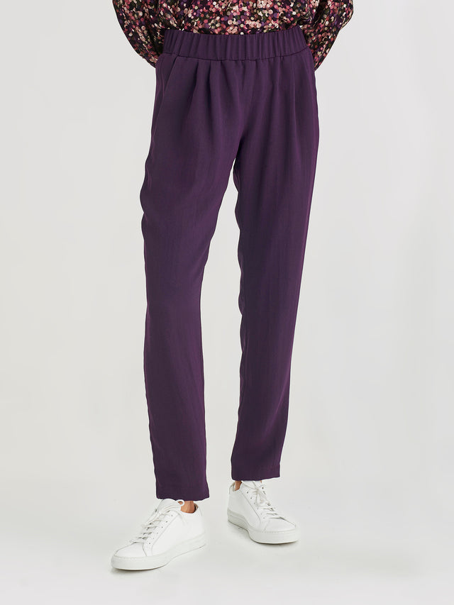 Malfoy Pant (Luxe Suiting) Aubergine