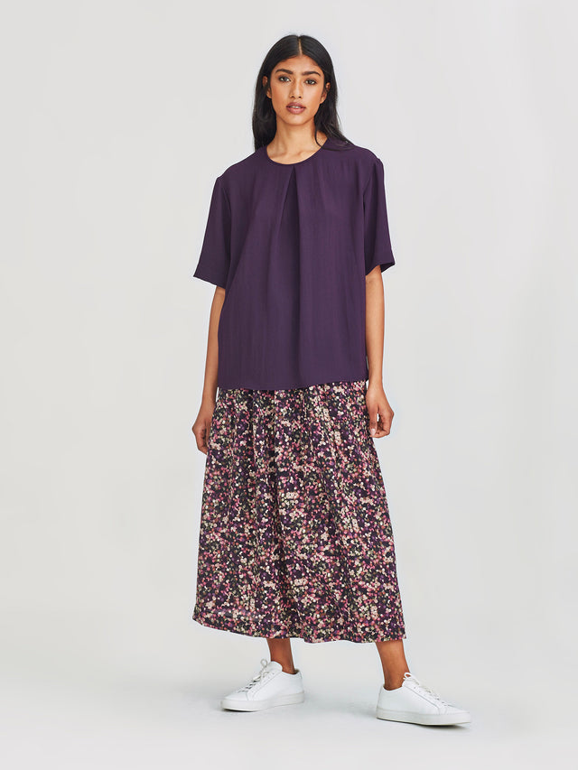 Pleat T (Luxe Suiting) Aubergine