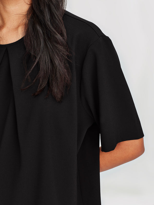 Pleat T (Luxe Suiting) Black