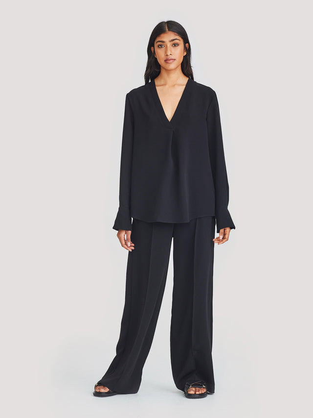 Ron Blouse (Luxe Suiting) Black