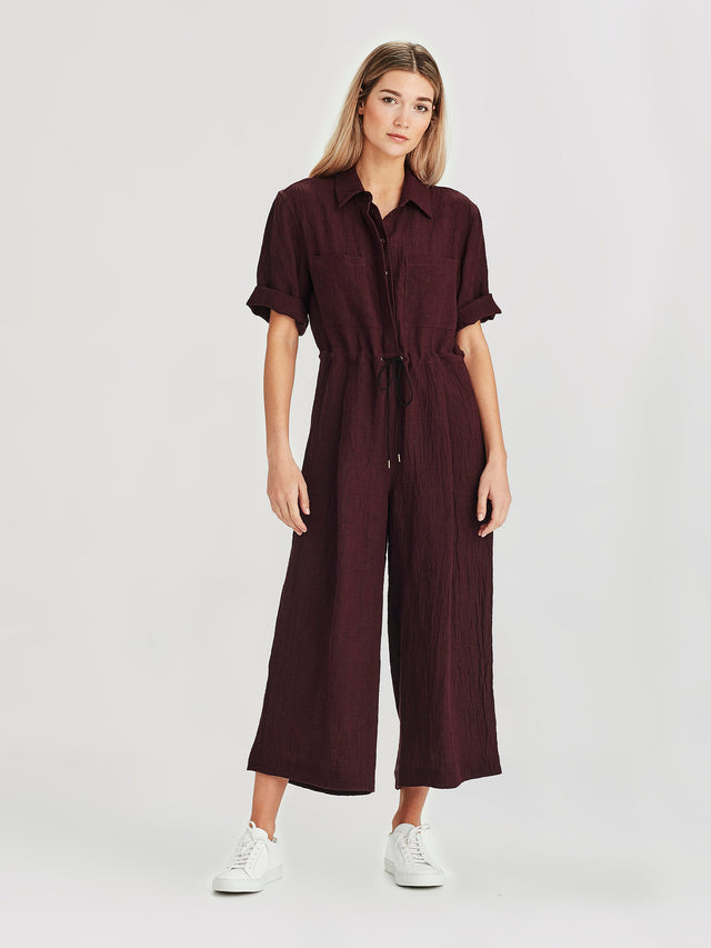 Form Jumpsuit (Linen Twist) Grape