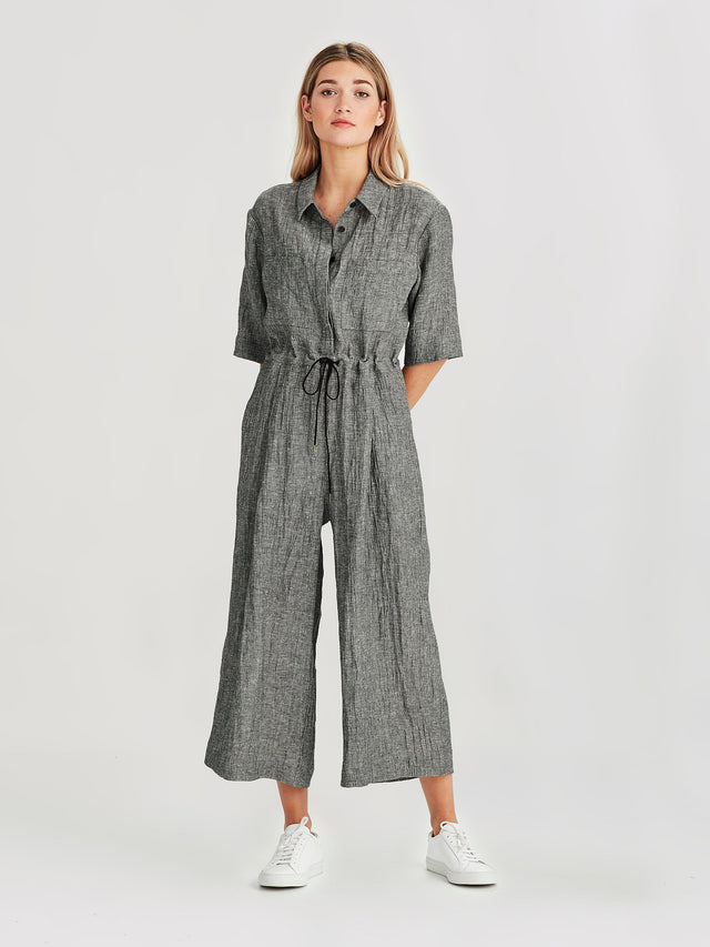 Form Jumpsuit (Linen Twist) Pepper