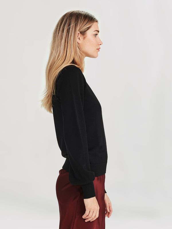 Ivy Sweater (Merino Knit ) Black