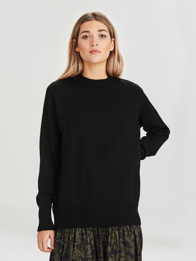 Julian Sweater (Merino Knit ) Black