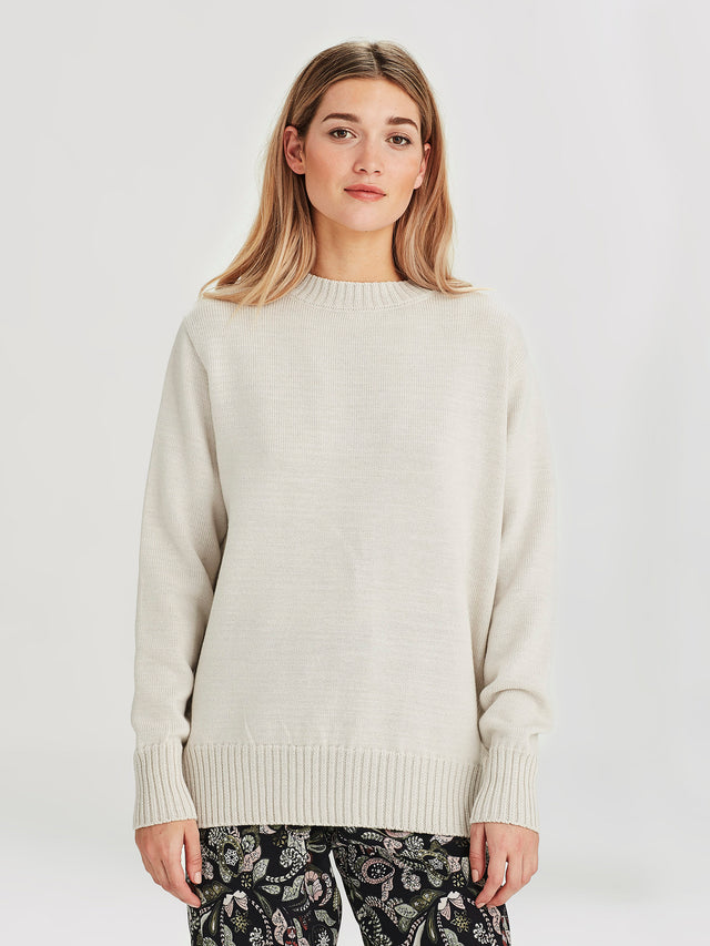 Julian Sweater (Merino Knit ) Chalk