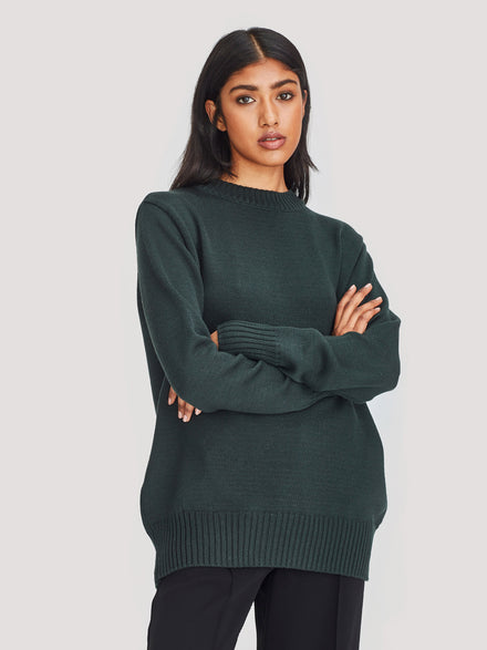 Julian Sweater (Merino Knit ) Forest