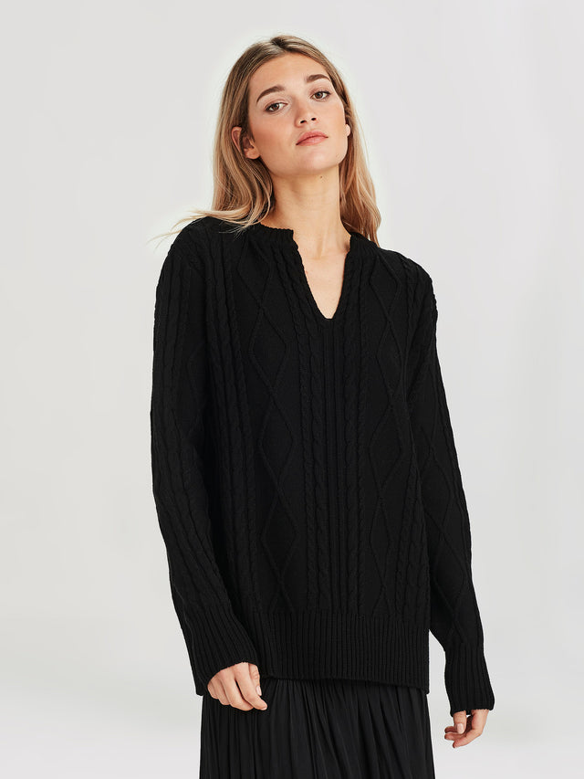 South Sweater (Merino Knit ) Black