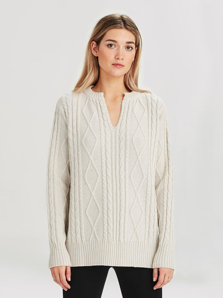 South Sweater (Merino Knit ) Chalk