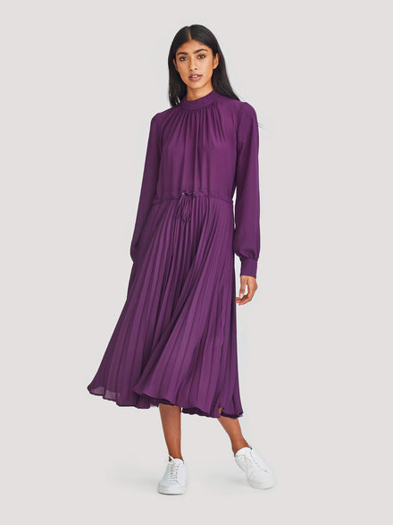 Violet Dress (Matte Pleat) Blackberry