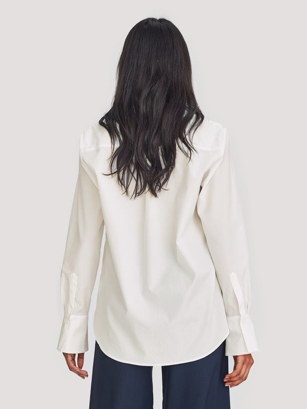 Ron Blouse (Cotton) White