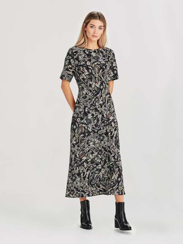 Carmela Dress (Paisley Silk) Winter
