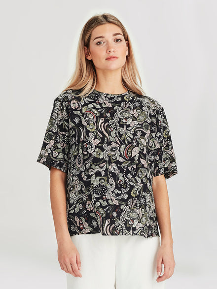 Drape T (Paisley Silk) Winter