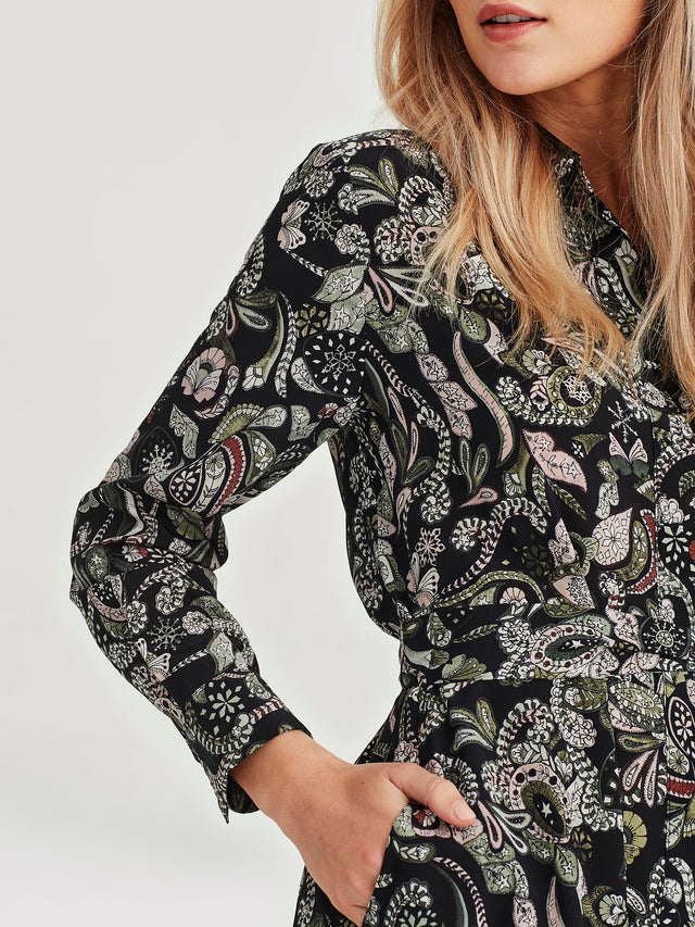 Lisbeth Dress (Paisley Silk) Winter