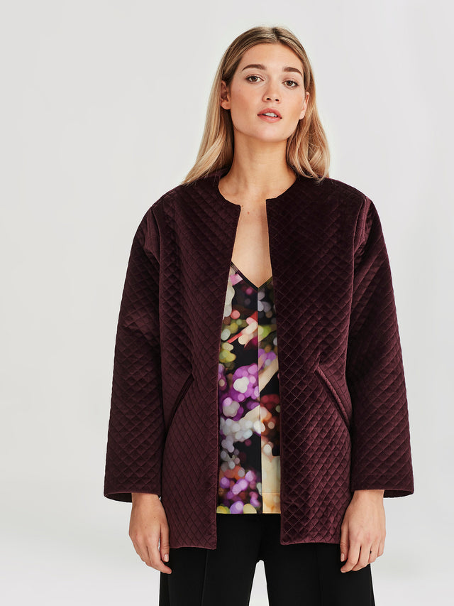 Smoking Jacket (Quilted Velvet) Shiraz
