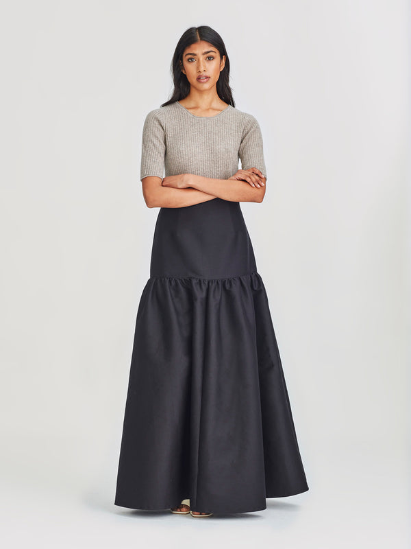 Irena Skirt (Cotton Silk) Black