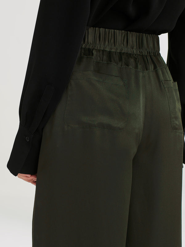 Ashley Pant (Silk Satin) Forest
