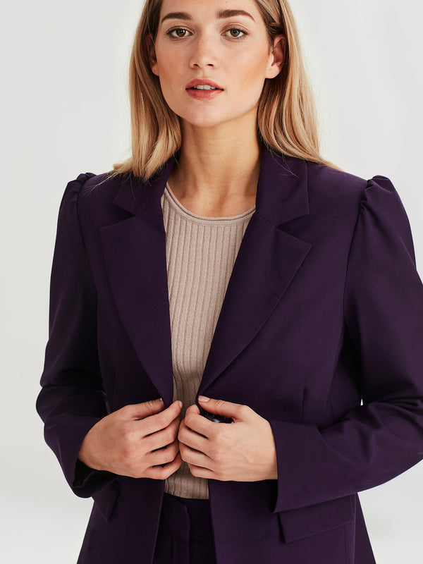 Octavia Jacket (Stretch Suiting) Blackberry