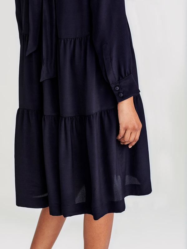 Treasure Tunic (Viscose Silk ) Navy