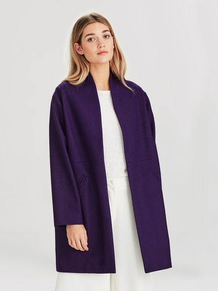 Saville Coat (Wool Melton) Violet