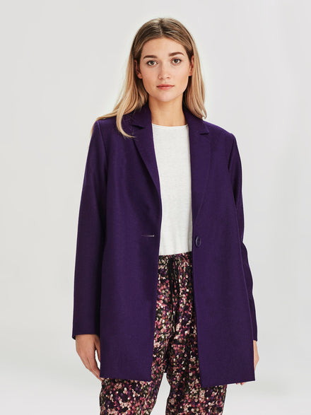 Wednesday Coat (Wool Melton) Violet