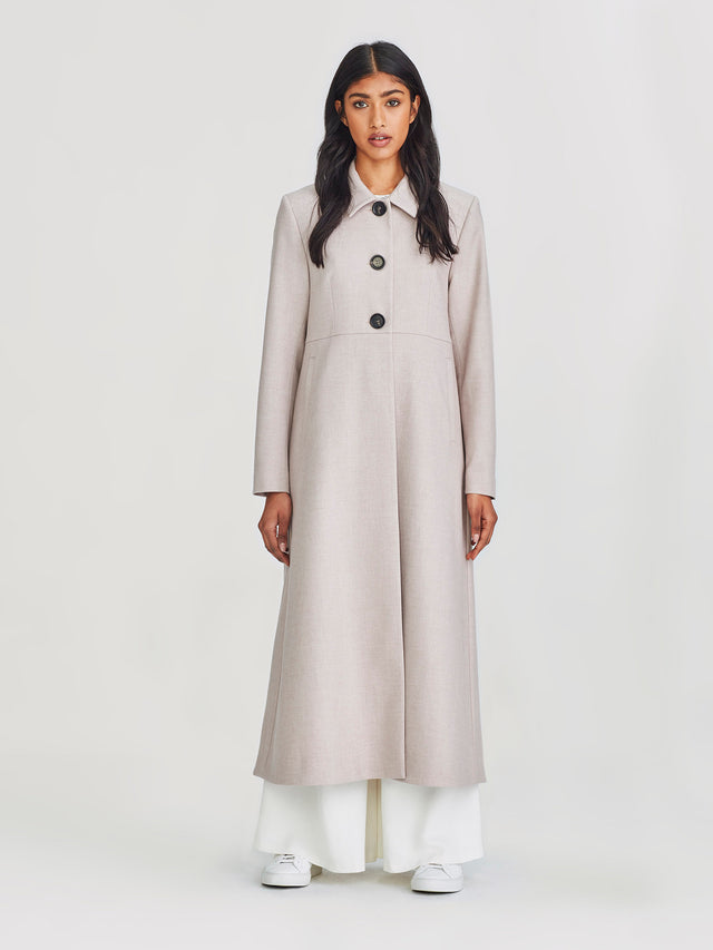 Windsor Coat (Powder Suiting) Pink Sand