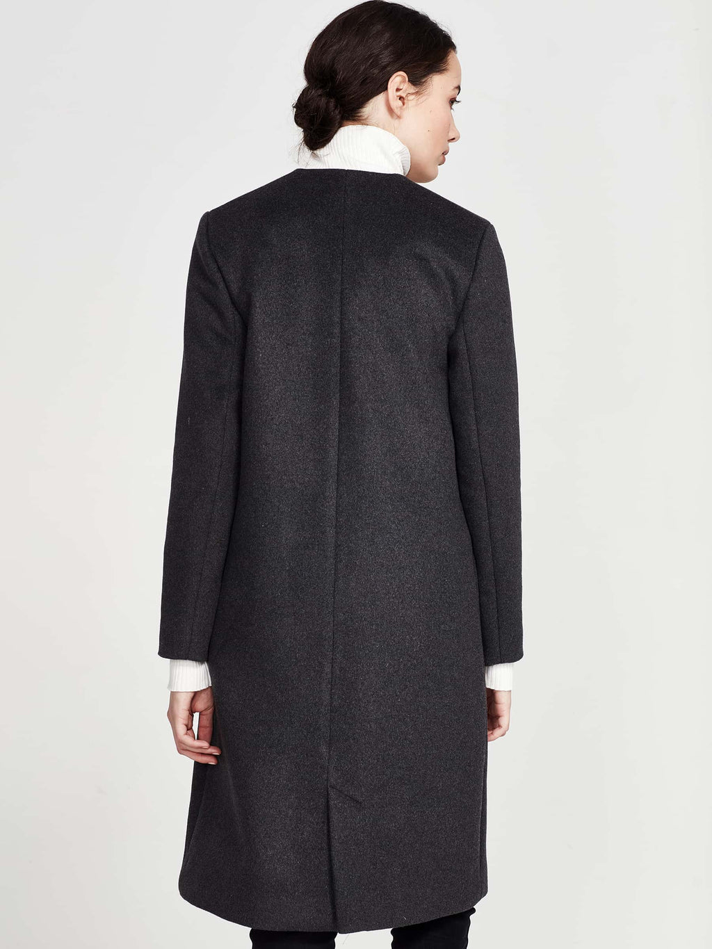Colette Coat (Brushed Coating) Charcoal
