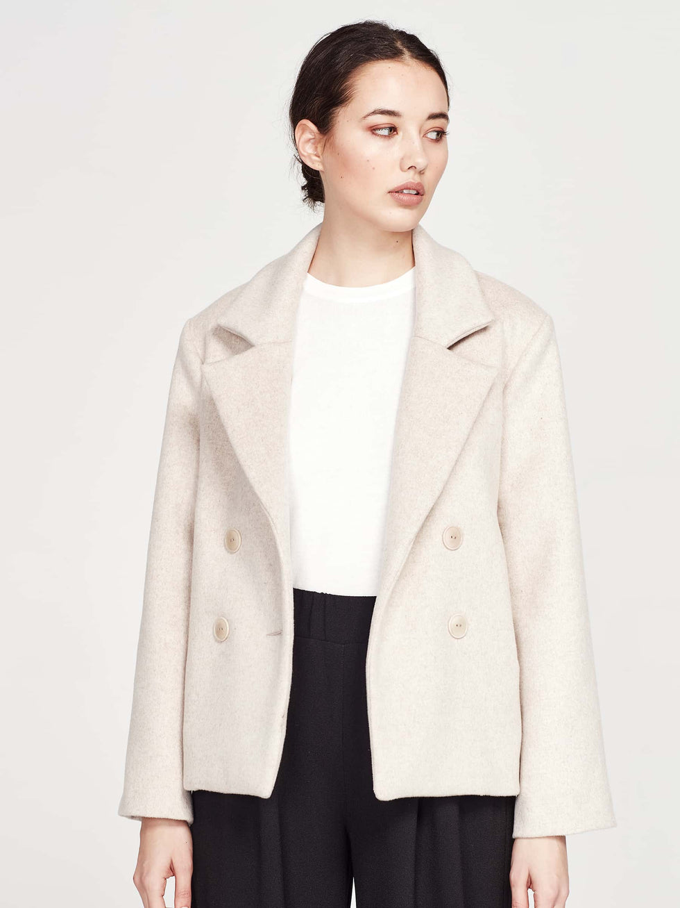 Georgina Jacket (Brushed Coating) Biscuit