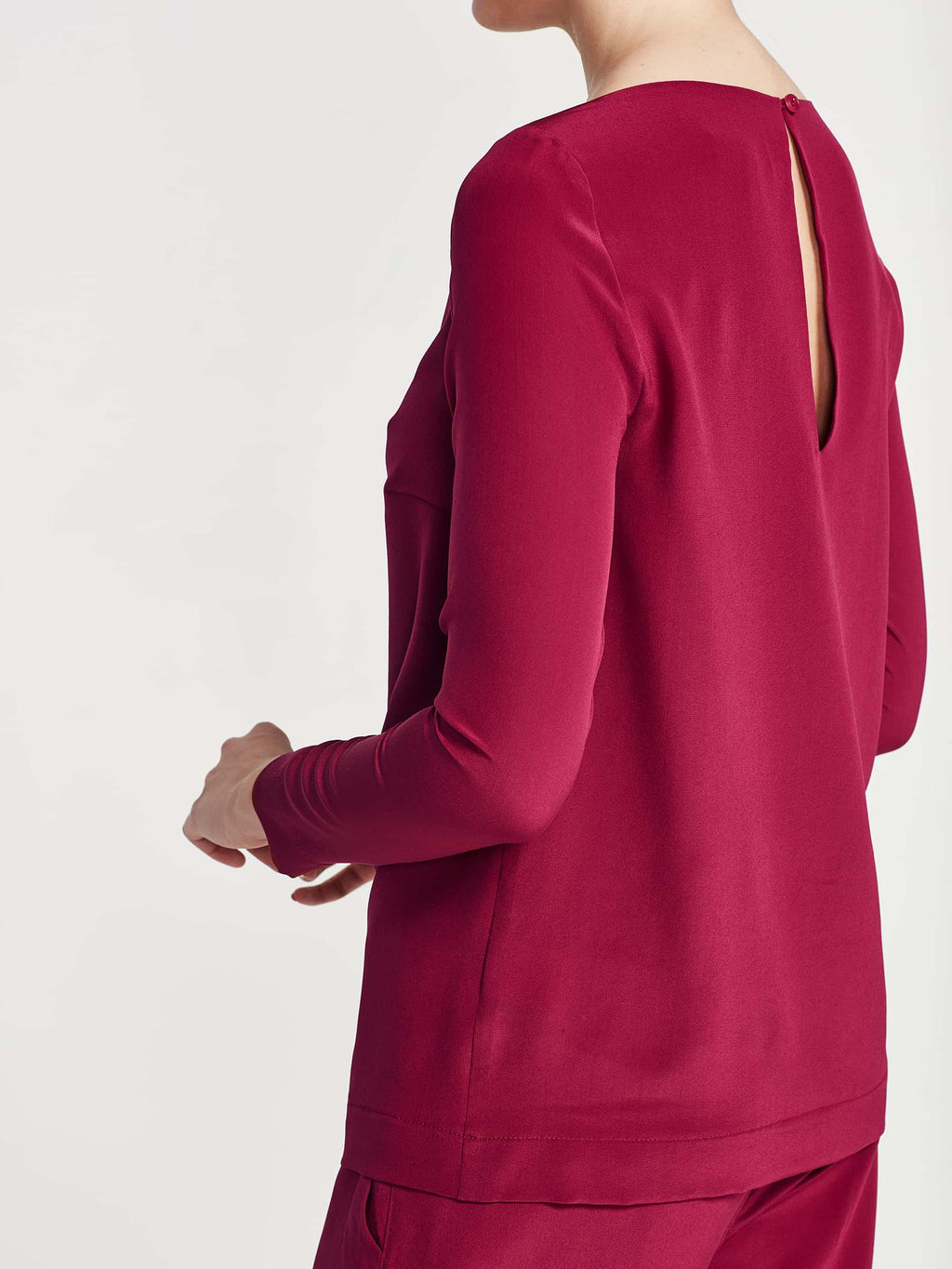 Margeaux Top (Silk Crepe De Chine) Magenta