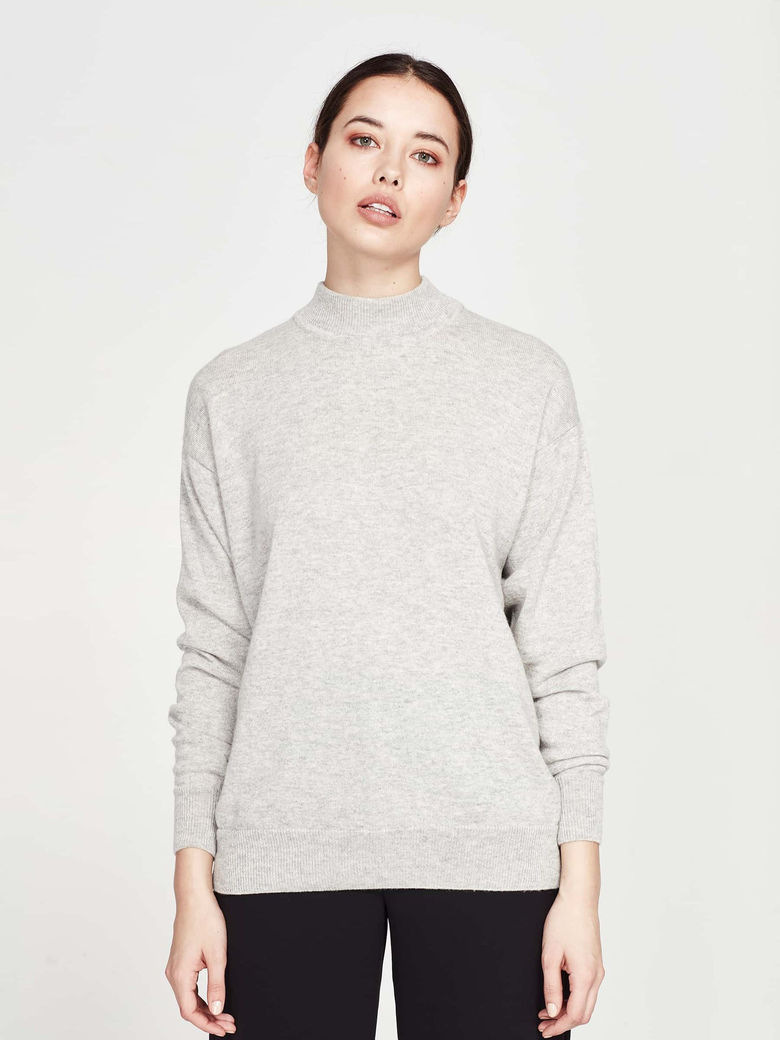 Clare Sweater (Cashmere) Grey Marle