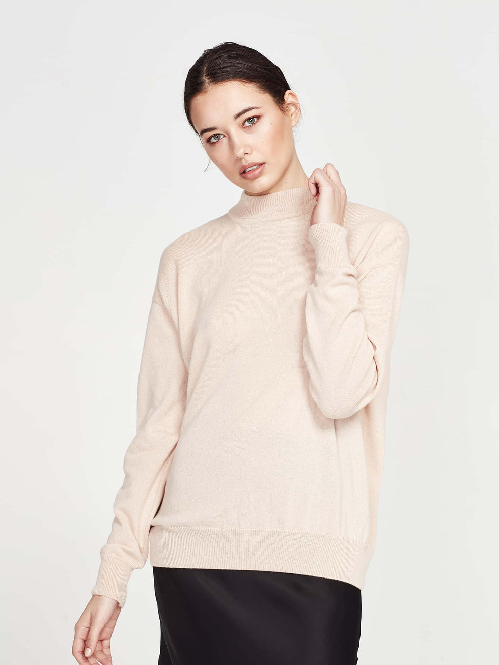 Clare Sweater (Cashmere) Peach