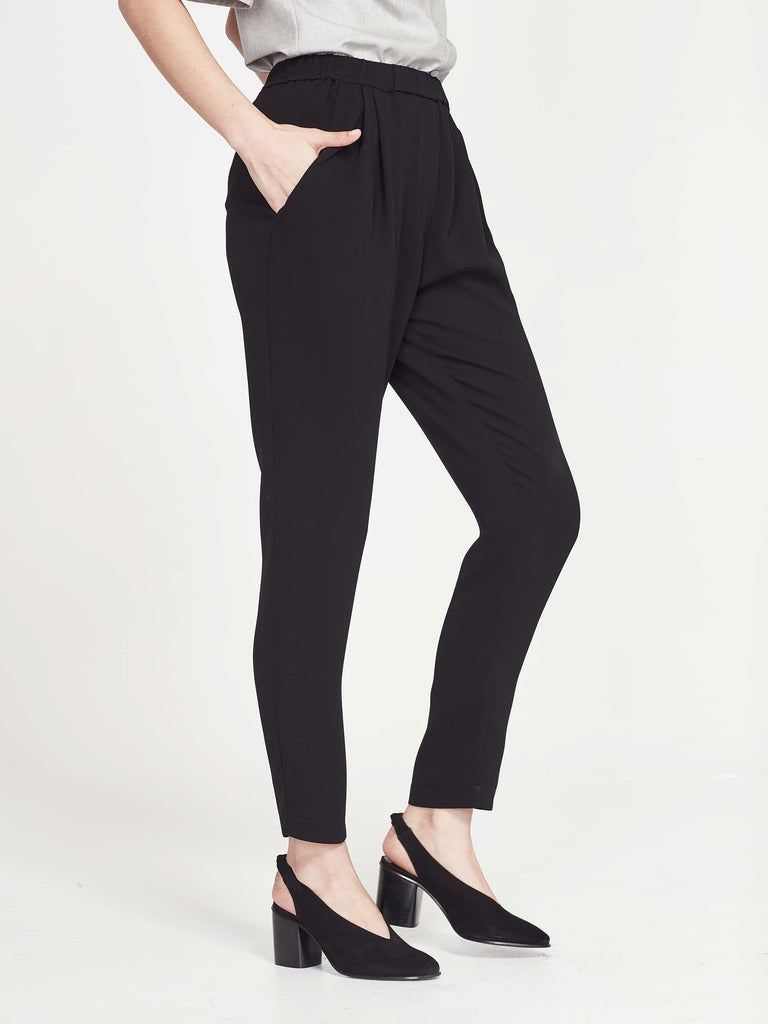 Drape Pant (Luxe Triacetate) Black