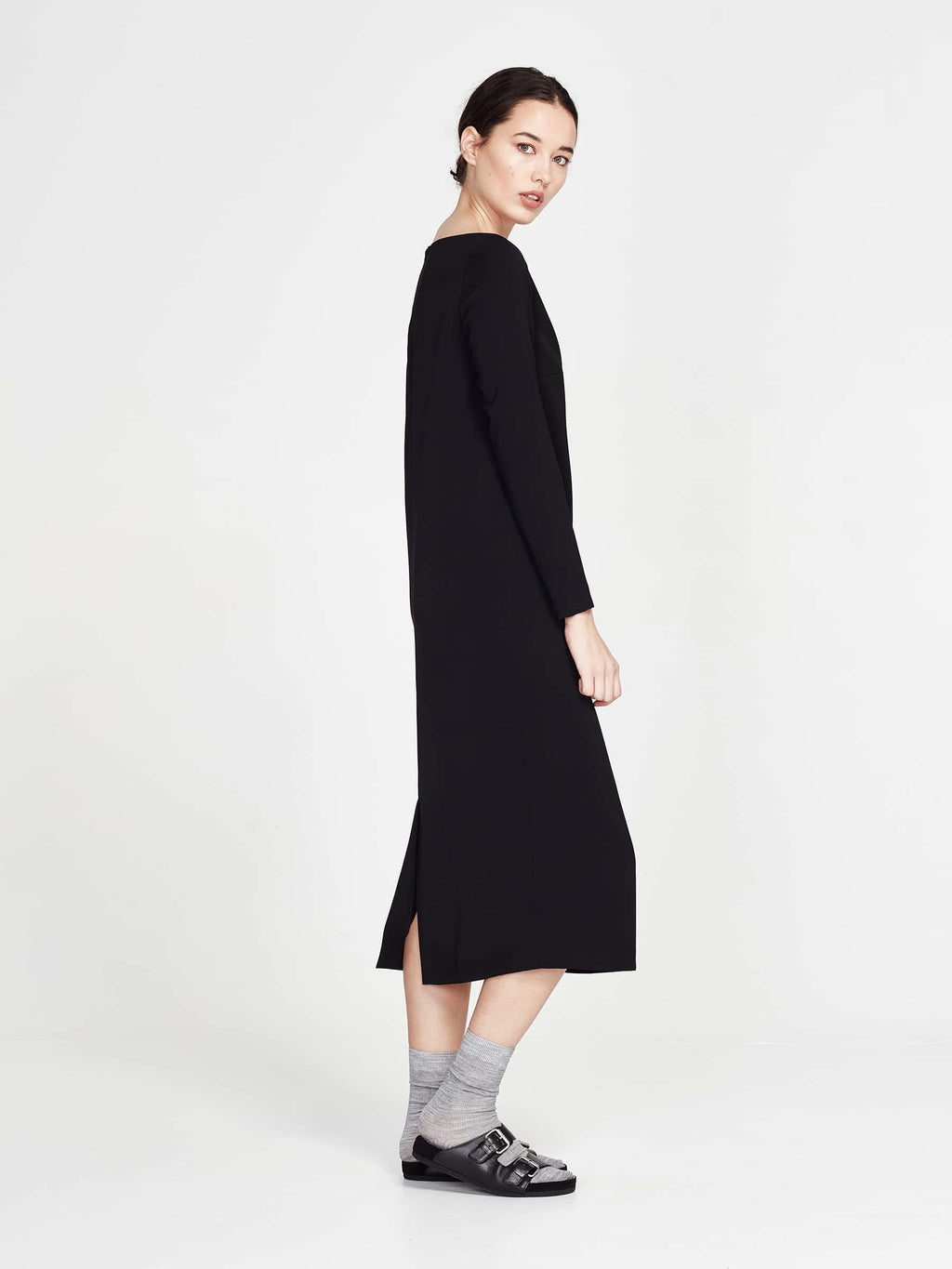 Mae Dress (Matte Crepe) Black