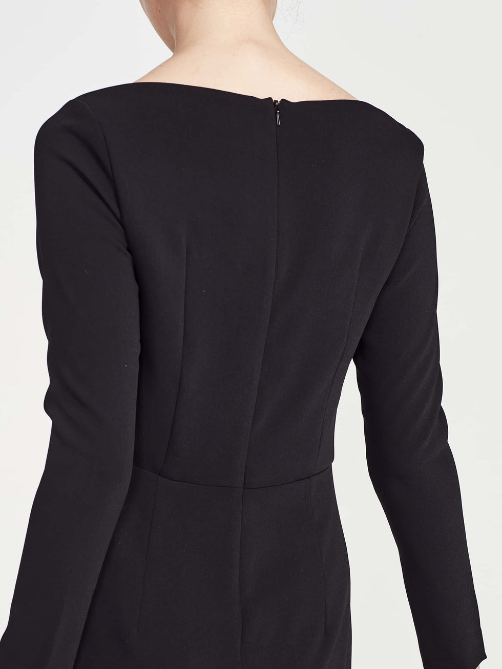 Meghan Dress (Matte Crepe) Black
