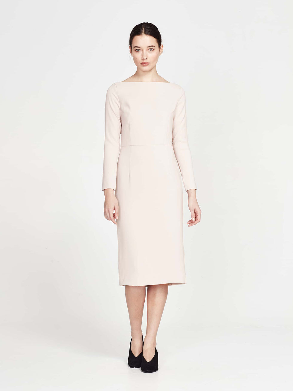 Meghan Dress (Matte Crepe) Powder