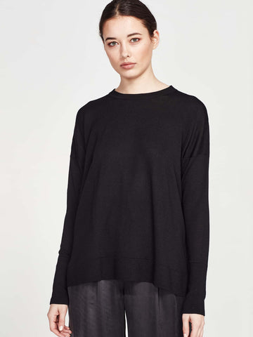 Bernice Sweater (Merino Knit) Black